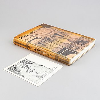 "Book with lithograph, Paul Delvaux ""Oevre gravé"", 1976."