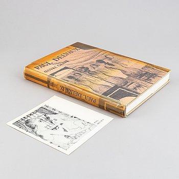 "Bok med litografi, Paul Delvaux ""Oevre gravé"", 1976."