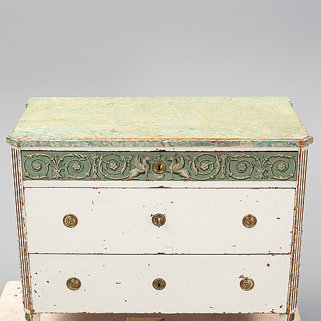 A swedish late gustavian commode, from nils asplind's workshop in falun, active 1785-1820.