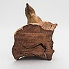 Ulf tikkanen, sculpture, wood and patinated plaster, signed.