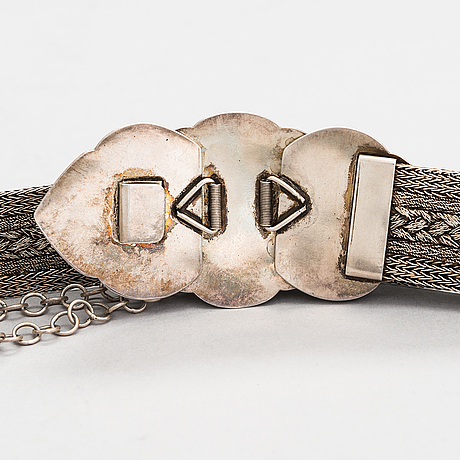 A silver belt from nepal.