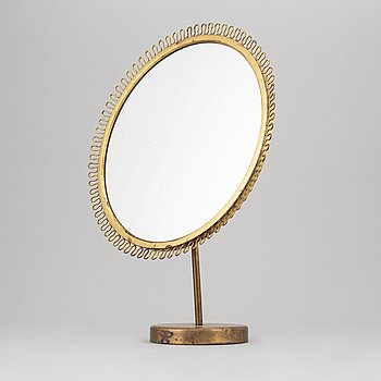 A mid-20th century table mirror, probably Nordiska Kompaniet.
