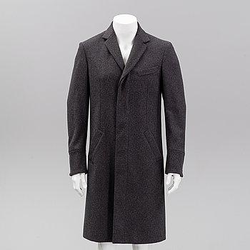 Alexander McQueen, a wool coat, Italian size 48.