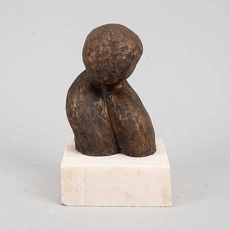 Staffan nihlén, sculpture, bronze, signed and dated -90.