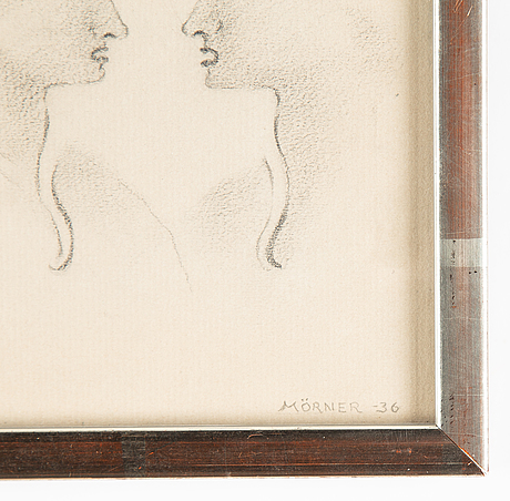 Stellan mörner, pencil drawing, signed and dated -36.