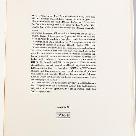 """Bok, max ernst, """"24 frottagen"""", 1973."""