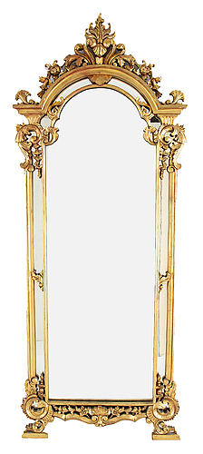 A rococo style mirror, second half of the 20th century.
