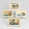 Utagawa hiroshige, after, 20 coloured woodblock prints, from the serie fifty-three stations of tokaido, 20th century.
