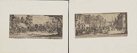 Jacques callot, 9 etchings, paris 1633,