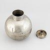 Sylvia stave, a pewter vase, cg hallberg, stockholm 1933.