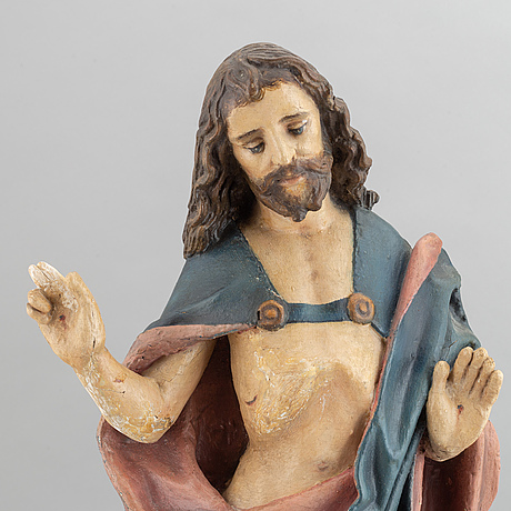 Christ sculpture, most likely ca 17/1800's.