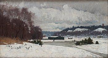 """510. Olof Arborelius, """"Djurgårdsbrunnsviken från Nobelparken"""" (View over Djurgårdsbrunnsviken from the Nobel Park, Stockholm)."""
