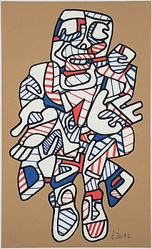 Jean Dubuffet, after, silkscreen in colours,  printed signature 72/300.