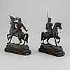 Zink sculptures, late 1800's.