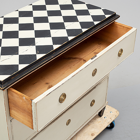 A 19th century chest of drawers..
