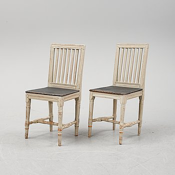 A pair of Swedish 19th century chairs.