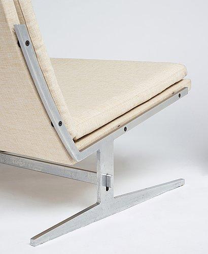 "Preben fabricius & jørgen kastholm, a pair of easy chairs ""bo 561"", bo-ex denmark, 1960's."