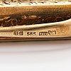 A 14k gold pencil with a steel tip. hugo grün, helsinki 1937.