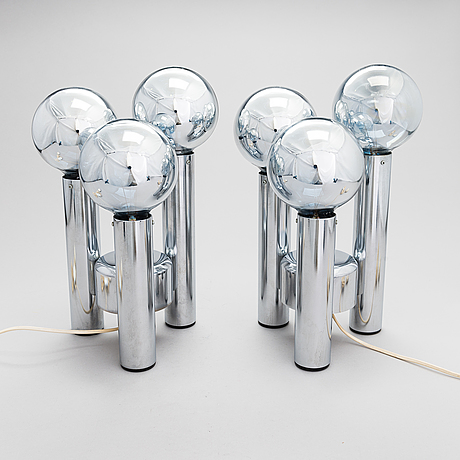 """A pair of 1960/70's table lamp """"habico"""". tampere, suomi."""