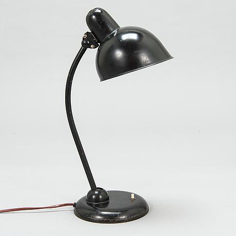 Christian dell, a 1930's german table lamp for gebr. kaiser & co.