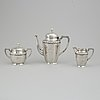 A three pieces silver coffee service from cg hallberg, stockholm 1916.