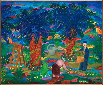 745. Lennart Jirlow, In the garden, Provence.