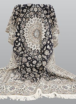A carpet, Nain part silk, s.k 6LAA, ca 304 x 207 cm.