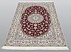 A rug, nain part silk s.k 6laa, ca 197 x 130 cm.