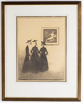 A signed Einar Nerman drawing.