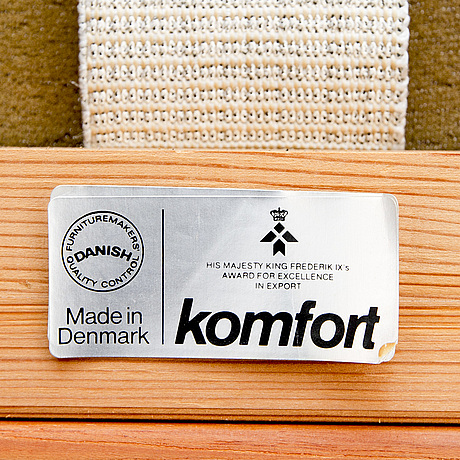 Soffa och fåtölj, danmark, teak, tillverkare komfort.