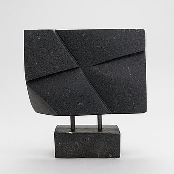 Aimo Taleva, sculpture, black granite, signed and dated 2006.