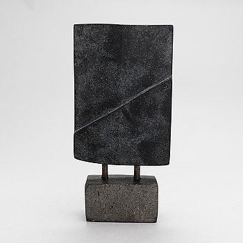 Aimo Taleva, sculpture, black granite, signed and dated 2007.