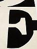 "Robert indiana, matto, ""white on black"", chosen love, hand tufted in 1995, ca 246,5 x 245,5 cm, robert indiana."