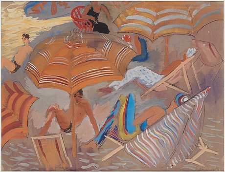 """Isaac grünewald, """"skugga på stranden, alassio""""."""