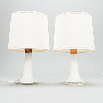 Lisa Johansson-Pape, Two 1960s table lamps, model '46-017'  for Stockmann Orno, Finland.