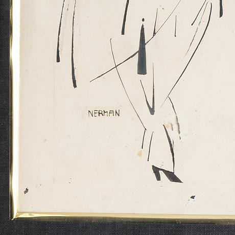 Einar nerman, tusch, signerad.