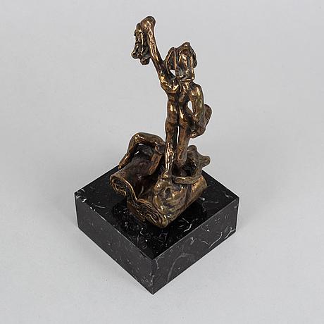 Salvador dalí, sculpture, bronze, numbered usa 115/2500, stamp signed dali.