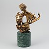 Salvador dalí, sculpture, bronze, numbered 69/75 ap, stamp signed dali.