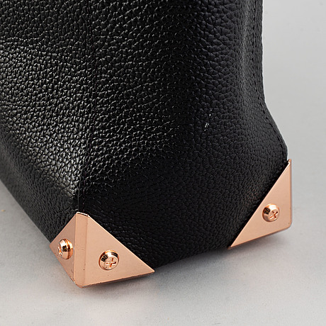 Alexander wang, a black leather tote.