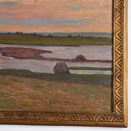 Anton genberg, oil on canvas, signed and dated 1922.