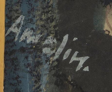Albin amelin, pastel signed.