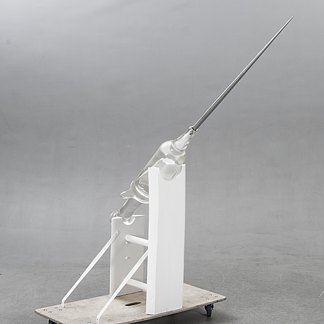 Thommy bremberg, a signed and dated glass sculpture.