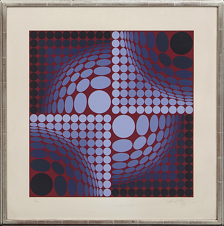 Victor vasarely, serigraph in colours singed and numbered 17/250.