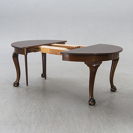 Table, chippendale style, ab mobilia, malmö, first half of the 20th century.