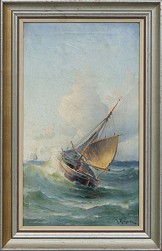 Ludvig richarde, oil on canvas signed.