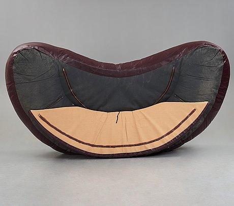 """Raphael raffel, / raphaël, a """"croissant"""", sofa, maison honoré, paris 1970's."""