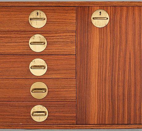 "Erik herløw, a sideboard, ""triva modul serie"", nordiska kompaniet, 1960's."
