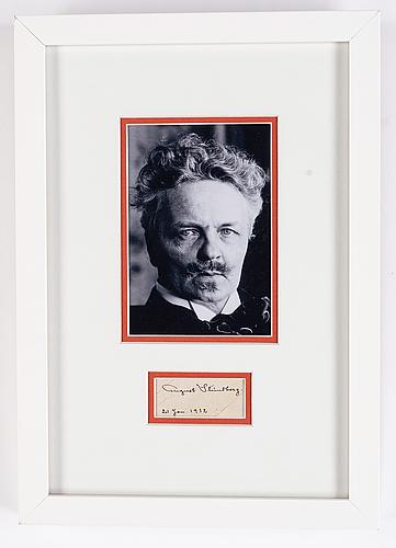 August strindberg, autograph, dated 21 jan, 1912.