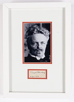August Strindberg, autograph, dated 21 Jan, 1912.