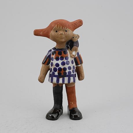 "Lisa larson, a ""pippi"" stoneware figurine from gustavsberg."